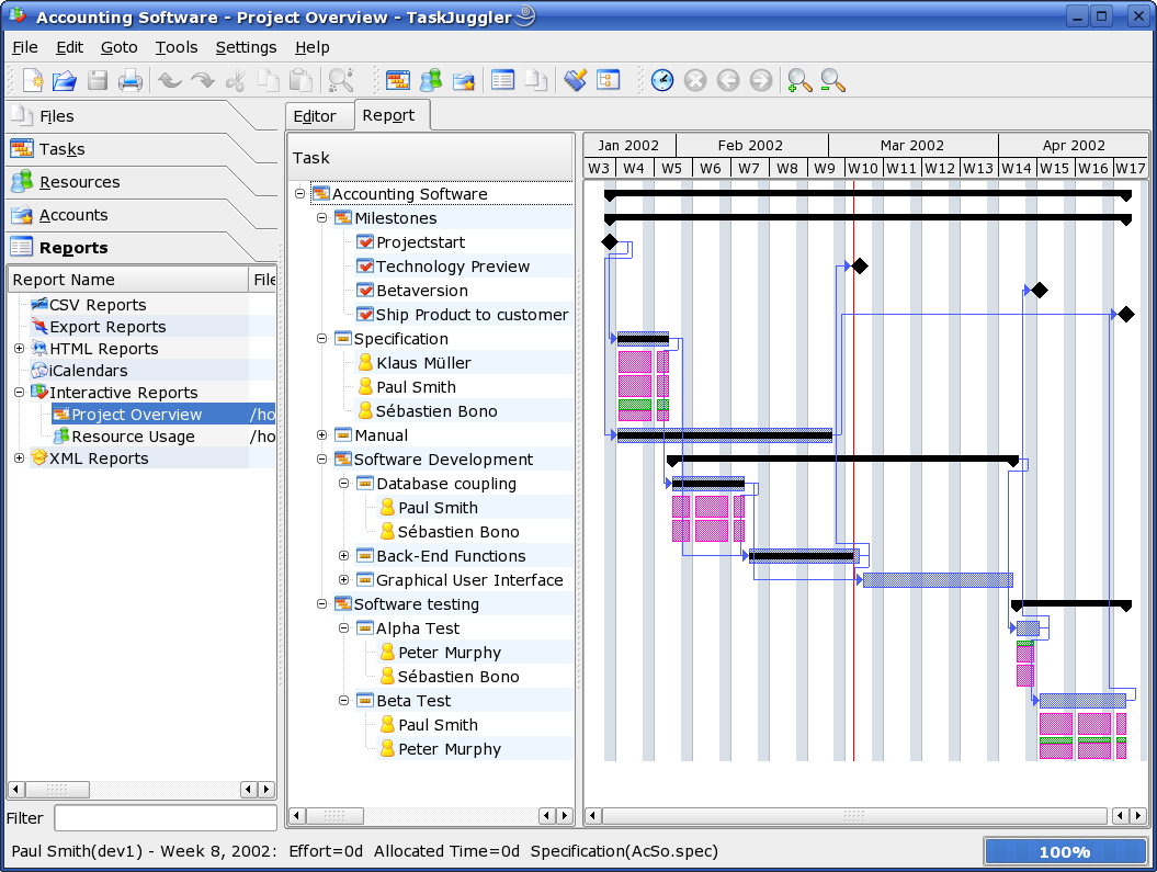 Taskjuggler the open source project management software home features and highlights nvjuhfo Image collections
